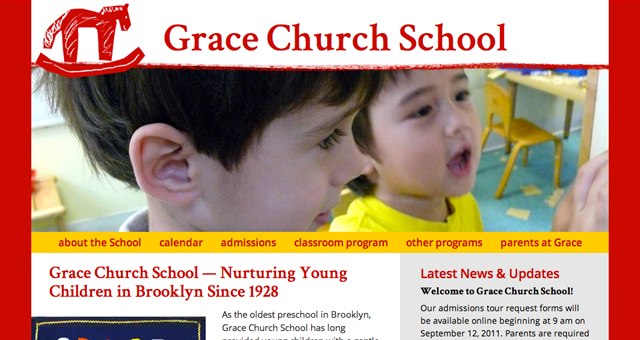 Grace Church School splash page