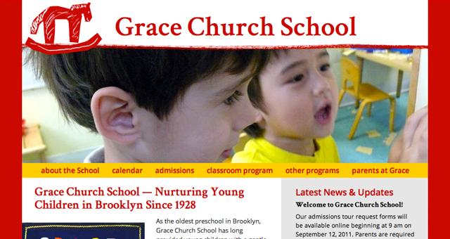 Grace Church School splash page