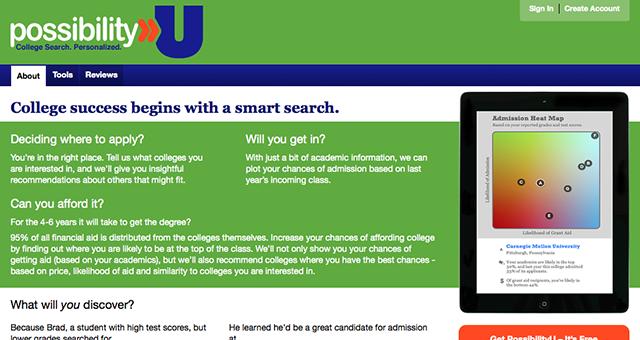 PossibilityU home page